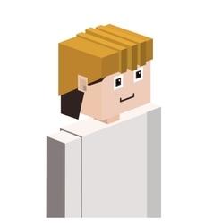 Lego man half body worker with helmet vector