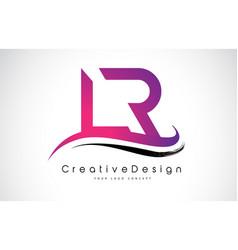 Lr l r letter logo design creative icon modern vector