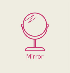 make up mirror thin line icon vector image