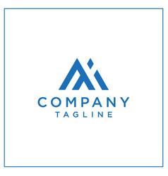 mi or ai triangle logo vector image