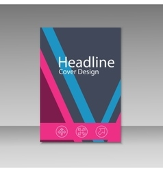 Modern abstract brochure book magazine vector image