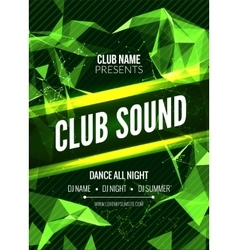 Modern club music party template dance party vector