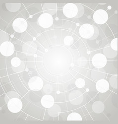 molecule and network white texture vector image