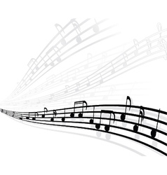 Musical background with different notes vector