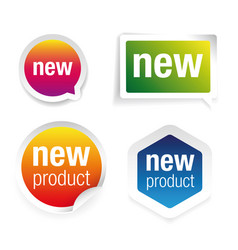 new product label tag set vector image