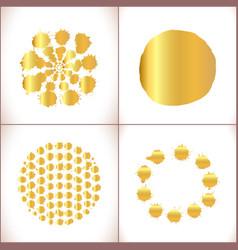 Paint splashes set gold paint stain vector