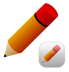 pencil with background vector image