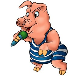 Pig with Microphone vector image