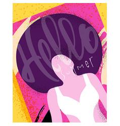Poster girls summer vector