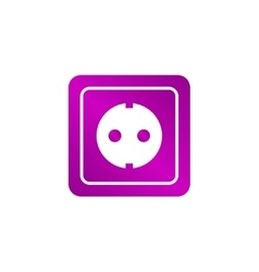 power socket icon vector image