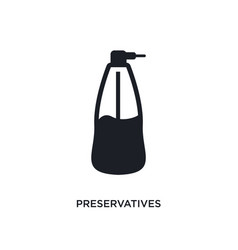 Preservatives isolated icon simple element from vector