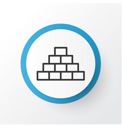 Pyramid icon symbol premium quality isolated vector