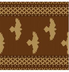 Ravens knitted seamless celtic ornament vector