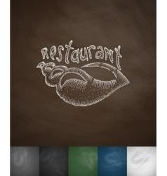 restaurant icon Hand drawn vector image