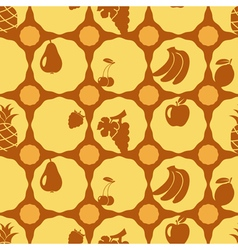 Seamless background with fruits vector image vector image