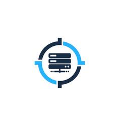Server target logo icon design vector