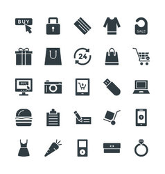 Shopping Cool Icons 4 vector image