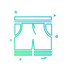 shorts icon design vector image