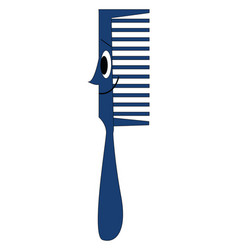 Smiling blue comb on white background vector
