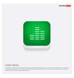 sound beats icon green web button vector image