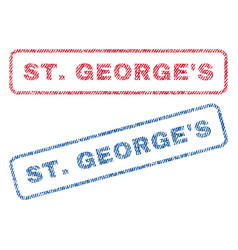 Stgeorge s textile stamps vector