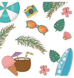 summer and vacations background pattern vector image