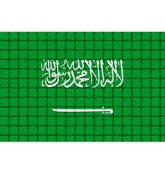 The mosaic flag of Saudi Arabia vector