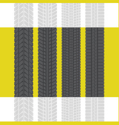 tire tracks set three vector image