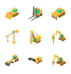 tool machine icons set cartoon style vector image