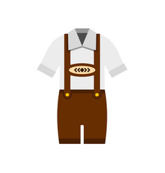 Traditional bavarian men suit icon flat style vector