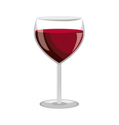 Wine glass label design isolated vector