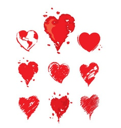 Collection - heart vector image vector image