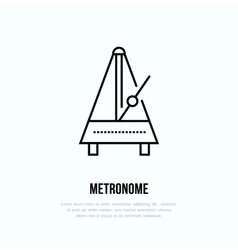 Modern line icon of metronome Music vector image