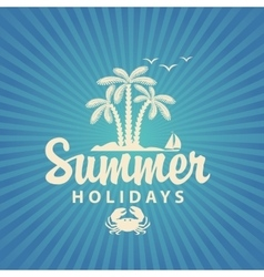 Travel banner summer holidays vector image