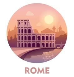Travel destination Rome vector image