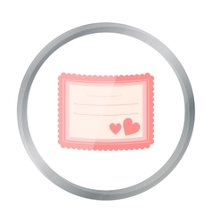 Wedding card icon of for web vector image