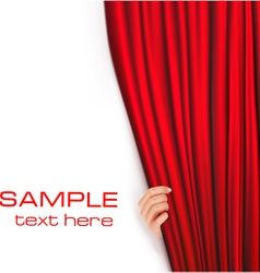 backgrounds with red velvet curtain vector image vector image