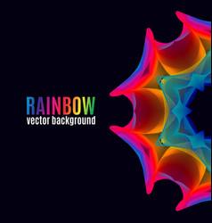 rainbow lines backgroun vector image
