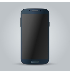 Realistic blue mobile phone image vector image