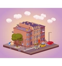 Scene of the urban street life vector image vector image