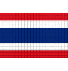 The mosaic flag of Thailand vector image vector image
