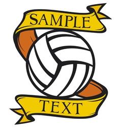 volleyball club emblem vector image