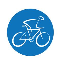 bicycle round logo design vector image vector image