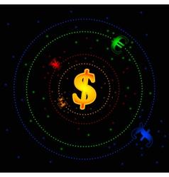 forex galaxy vector image vector image
