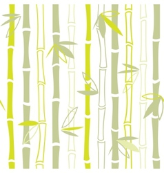 Green bamboo seamless pattern vector image vector image