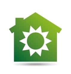 Green ecology sun warming symbol design vector