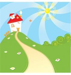 home landscape vector image vector image
