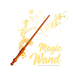 magic wand with stars on white background vector image