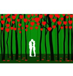Valentine forest vector
