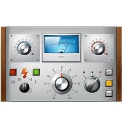 Analog controls interface elements set vector image